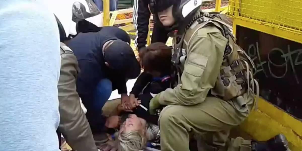Mujer lesionada tras recibir chorro del lanza aguas en marcha contra Monsanto en Valparaíso