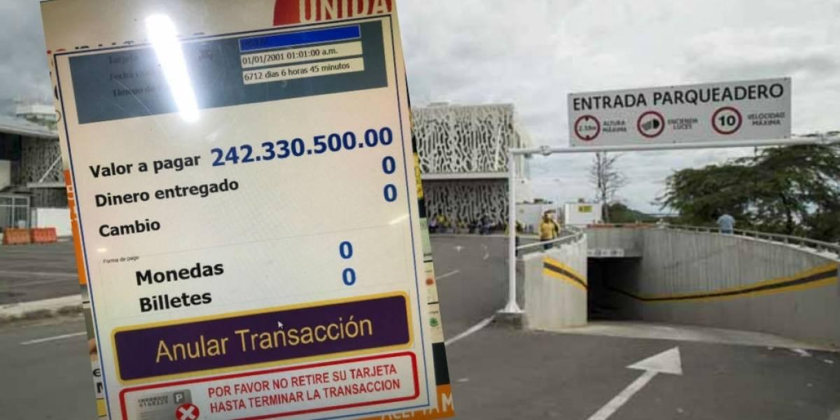 Máquina de parqueadero en Santa Marta cobró $242 millones por 20 minutos