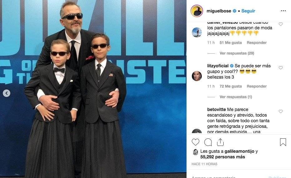 Miguel Bosé posa por primera vez con sus hijos