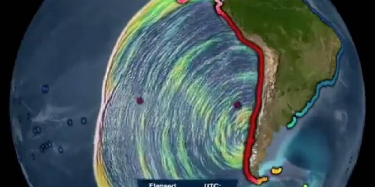 Impactante registro: así avanzó por el mundo el tsunami tras devastador mega terremoto de Valdivia