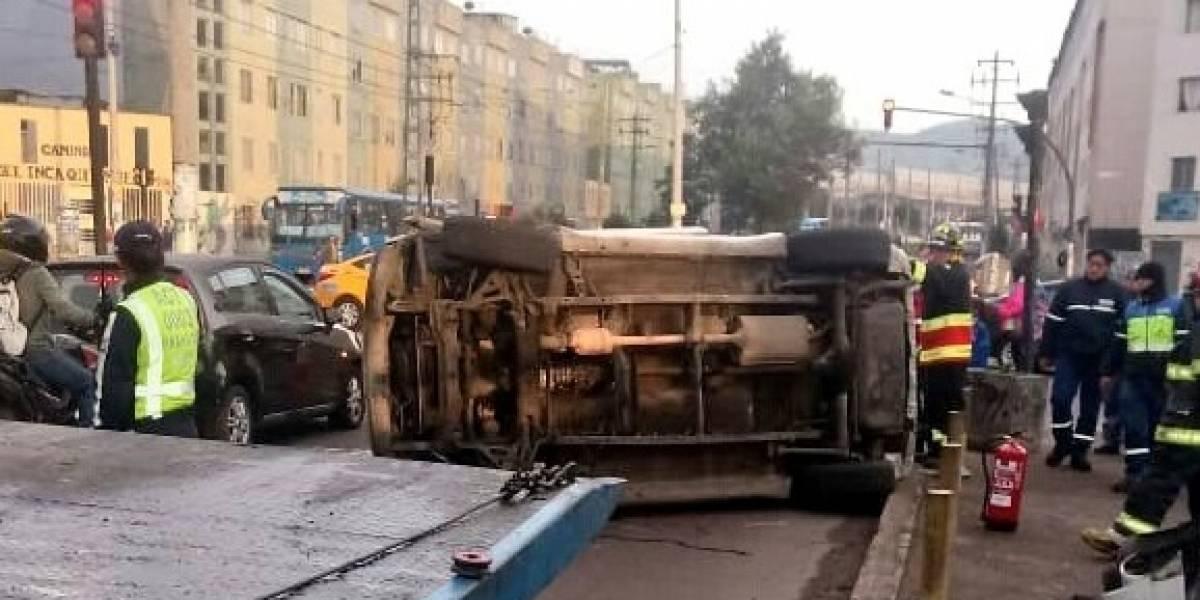 Quito: Se reportó un accidente de tránsito en el sector de Quitumbe