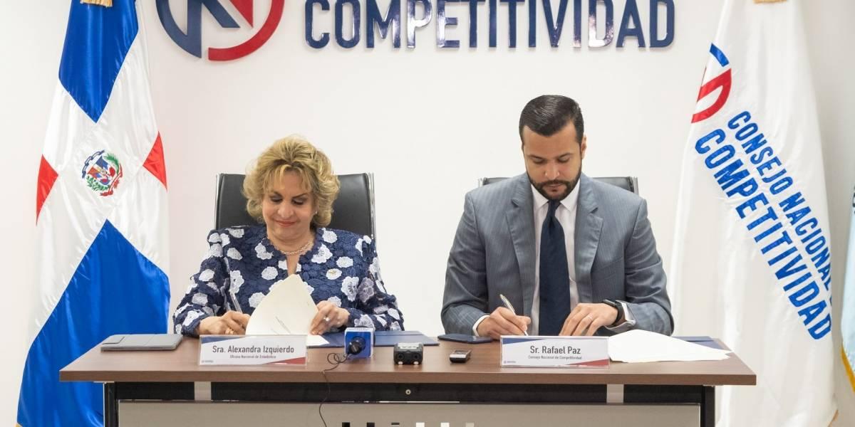 Competitividad y la ONE firman acuerdo para elaborar diagnóstico sobre innovación