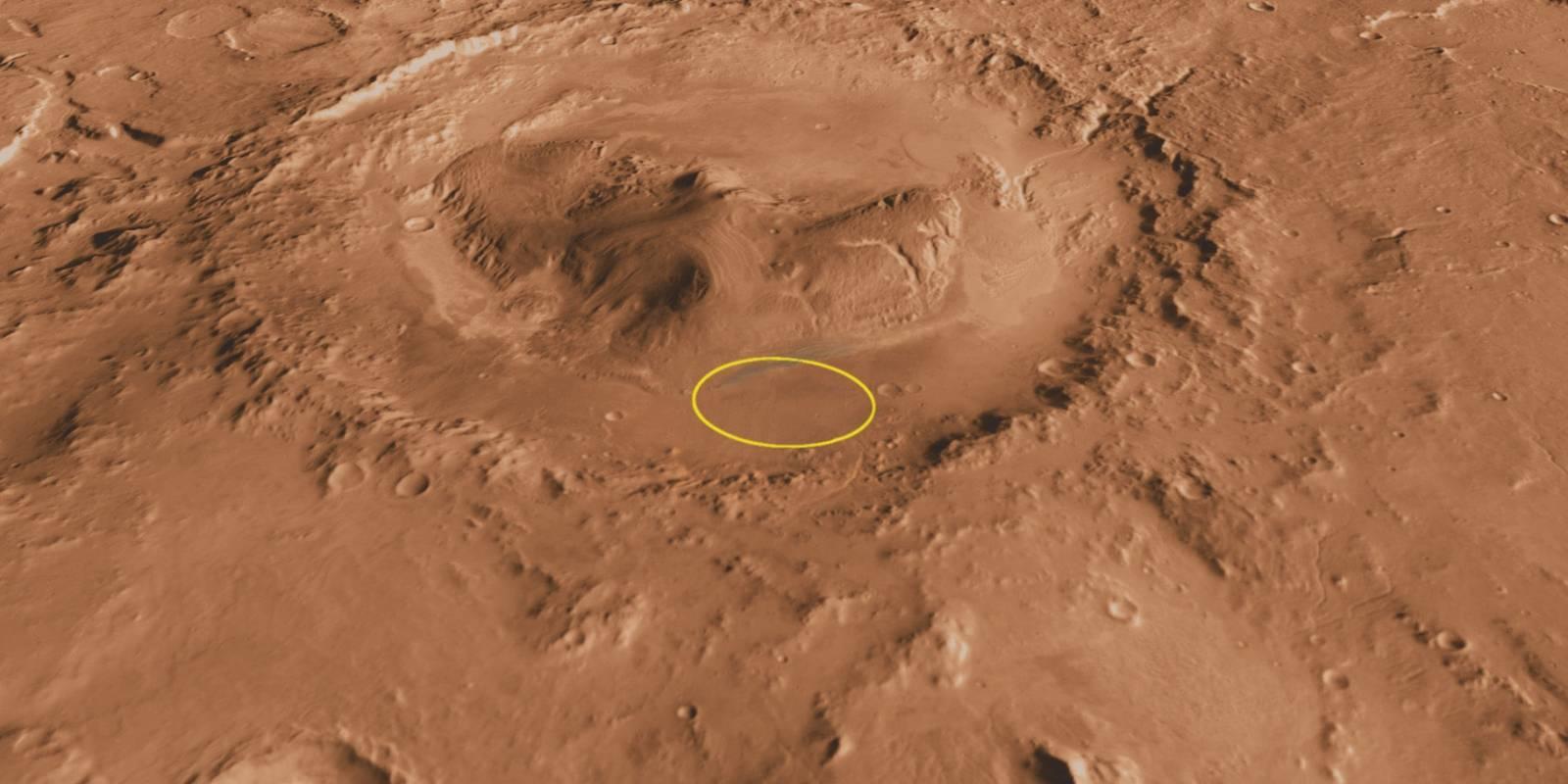 Marte Aeolis Mons