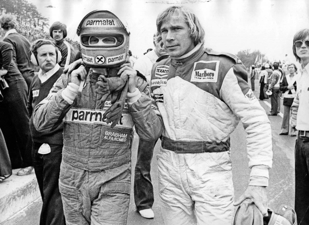 Lauda e seu rival James Hunt Getty Images