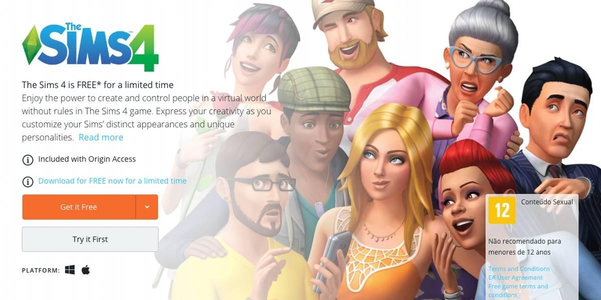 The Sims 4 está disponível para download gratuito por tempo limitado