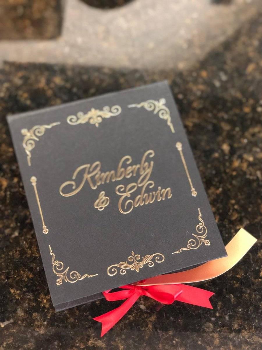 Invitación boda Edwin Luna y Kim Flores
