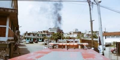 incendio en Cuatro de Febrero, zona 7
