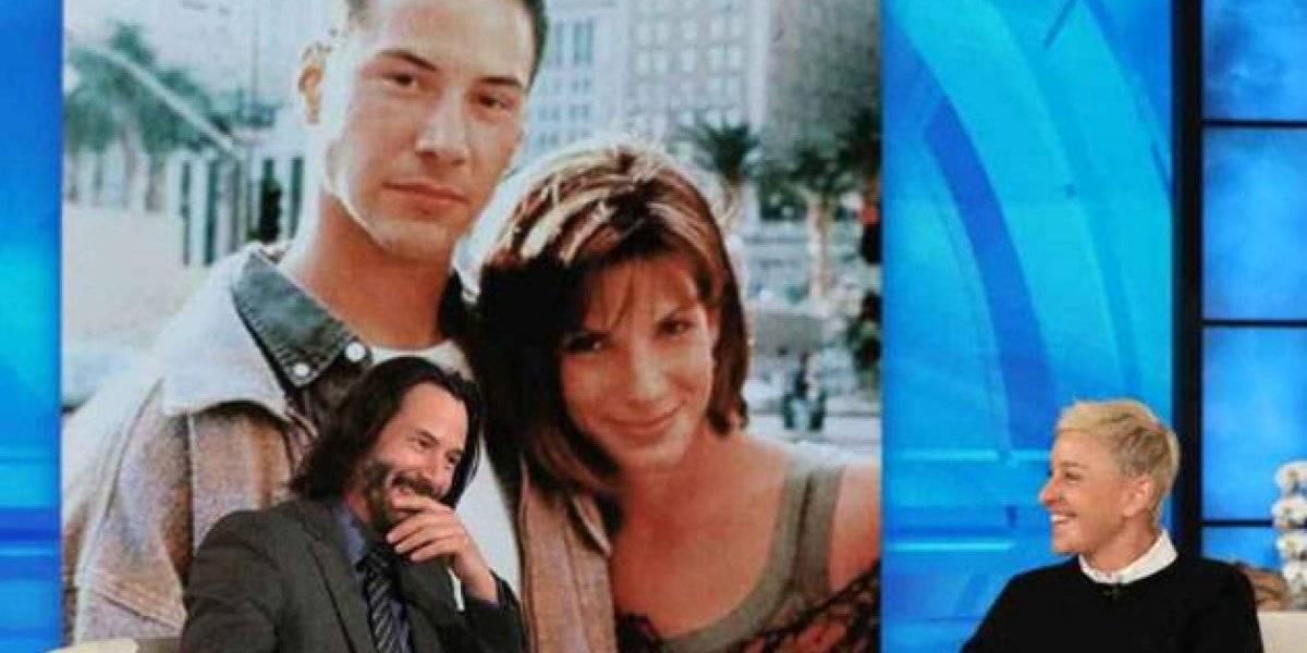 """Keanu Reeves confesó que se enamoró de Sandra Bullock cuando grabaron """"Máxima Velocidad"""""""