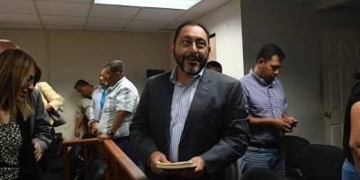 audiencia de reparación digna del caso Patrullas, donde está sentenciado el exministro Mauricio López Bonilla