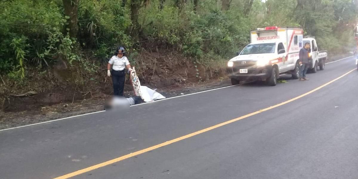 Localizan cadáver de hombre en ruta a Santa Elena Barillas