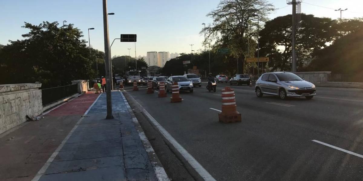 Ponte da Casa Verde tem faixa liberada após três meses de obras