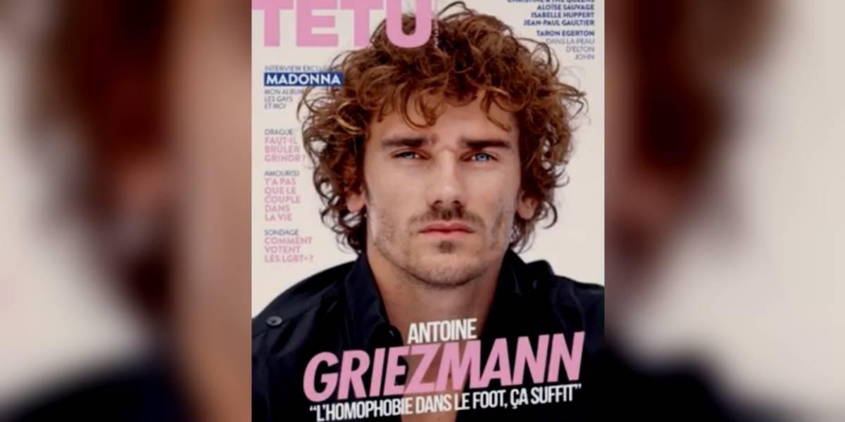 Griezmann, portada de una revista LGBTI