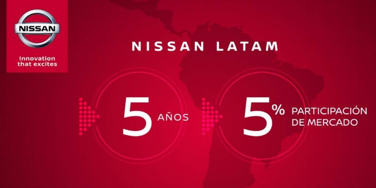 Nissan celebra un lustro exitoso en la región