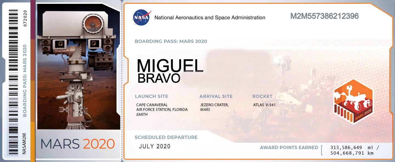 NASA nombre Marte