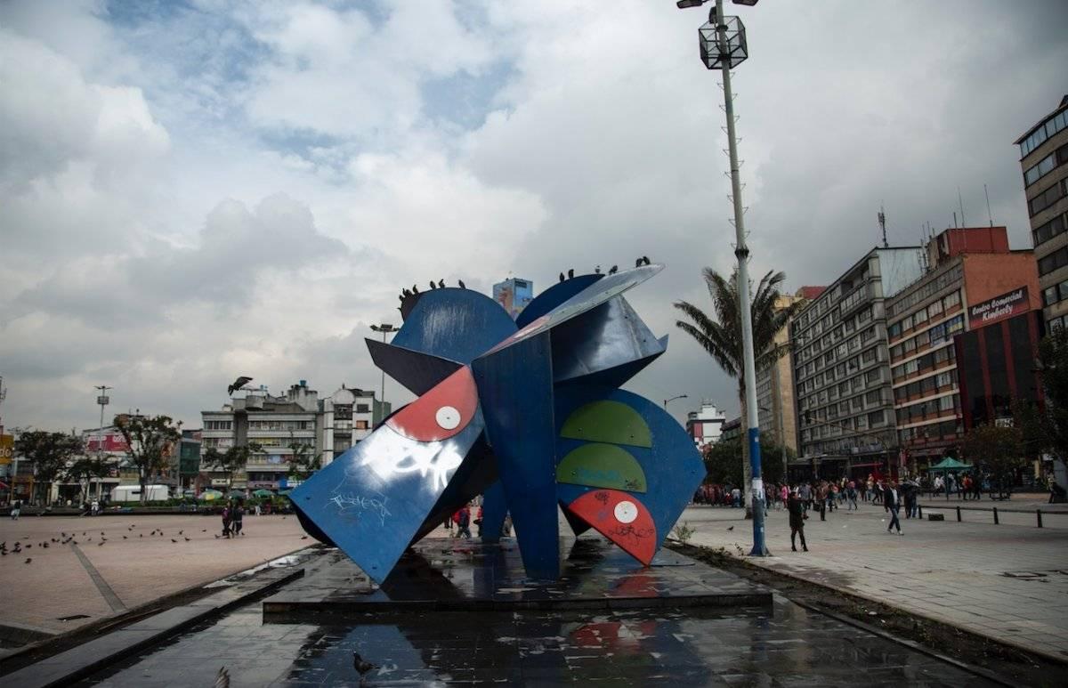 comerciantes del centro adoptaron el monumento La Gran Mariposa Cortesía IDPC