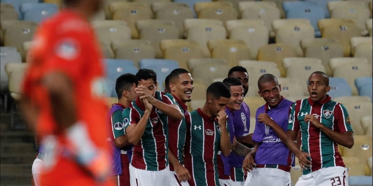 ¡Papelón internacional! Fluminense goleó y humilló a Nacional en Copa Sudamericana
