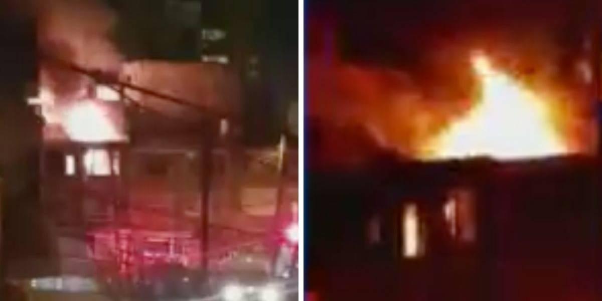 Fuerte incendio afecta decenas de familias en Bogotá