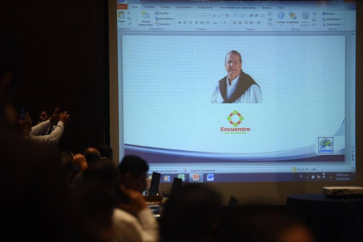 Gonzalo Marroquín, de Encuentro por Guatemala. Foto: Edwin Bercián