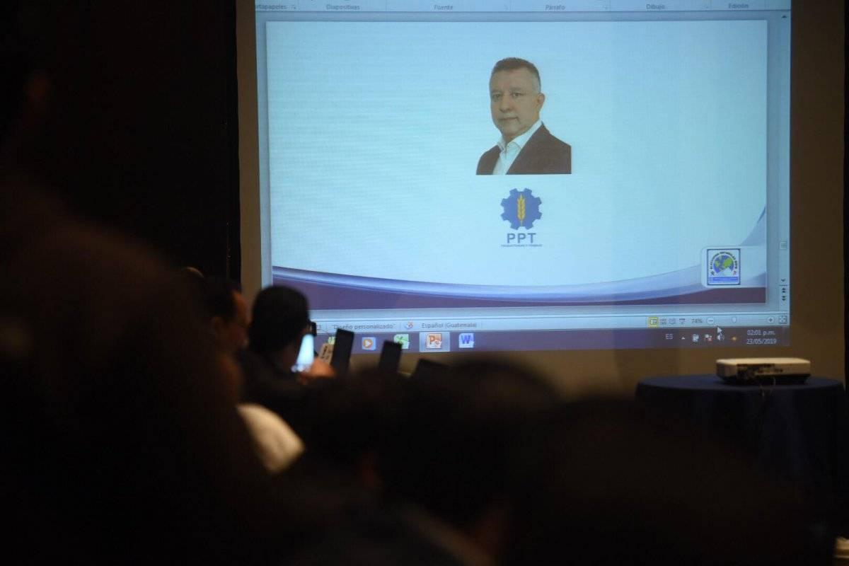 Noé de Jesús Solares Barillas, del partido PPT. Foto: Edwin Bercián