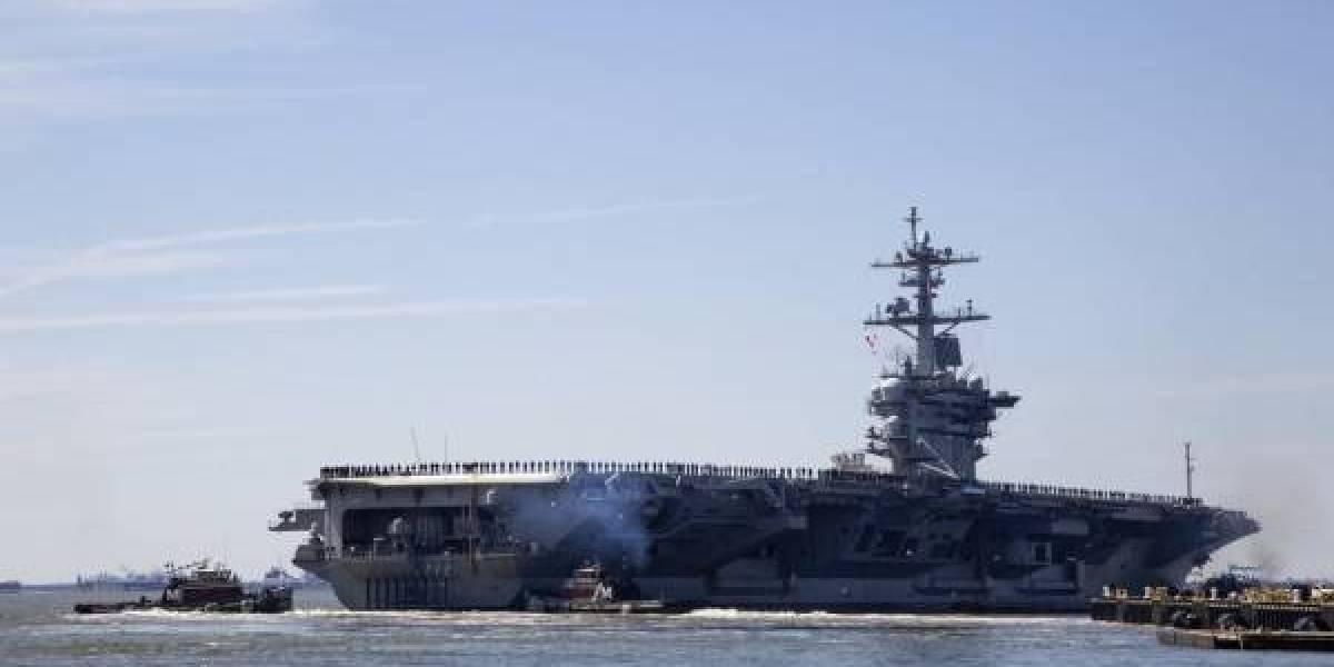 Trump sitúa su portaaviones a las puertas del Golfo Pérsico