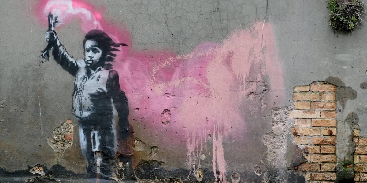 Artista Banksy financia resgate a imigrantes no Mar Mediterrâneo