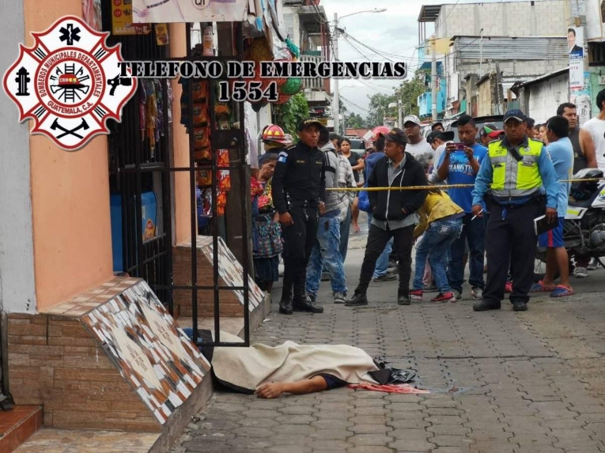 hombre muere por ataque armado en Bárcenas, Villa Nueva