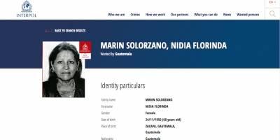 Nidia Floridalma Marín Solórzano, buscada por la Interpol.
