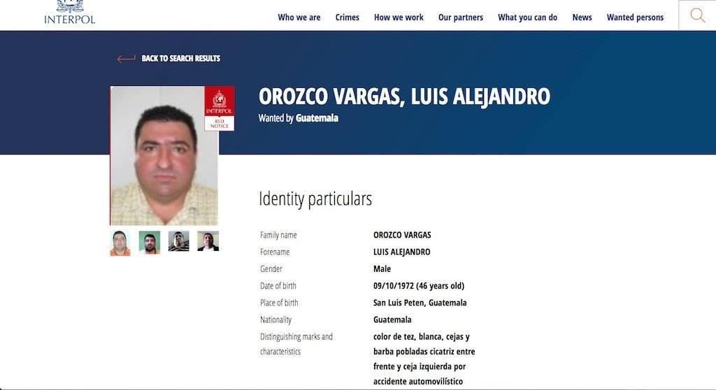 Esteban Danubio Matamoros Castillo, buscado por la Interpol. Foto: Publinews