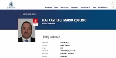 Mario Roberto Leal Castillo, buscado por la Interpol.