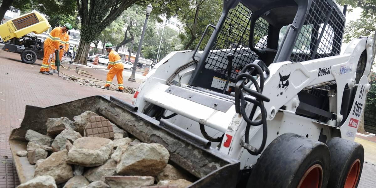 Largo do Arouche terá cara nova em quatro meses; local passa por obras de revitalização
