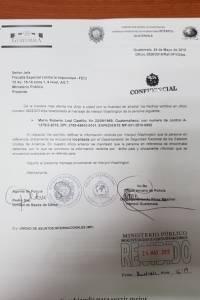 Oficio de Interpol acerca de las gestiones contra Mario Leal Castillo.