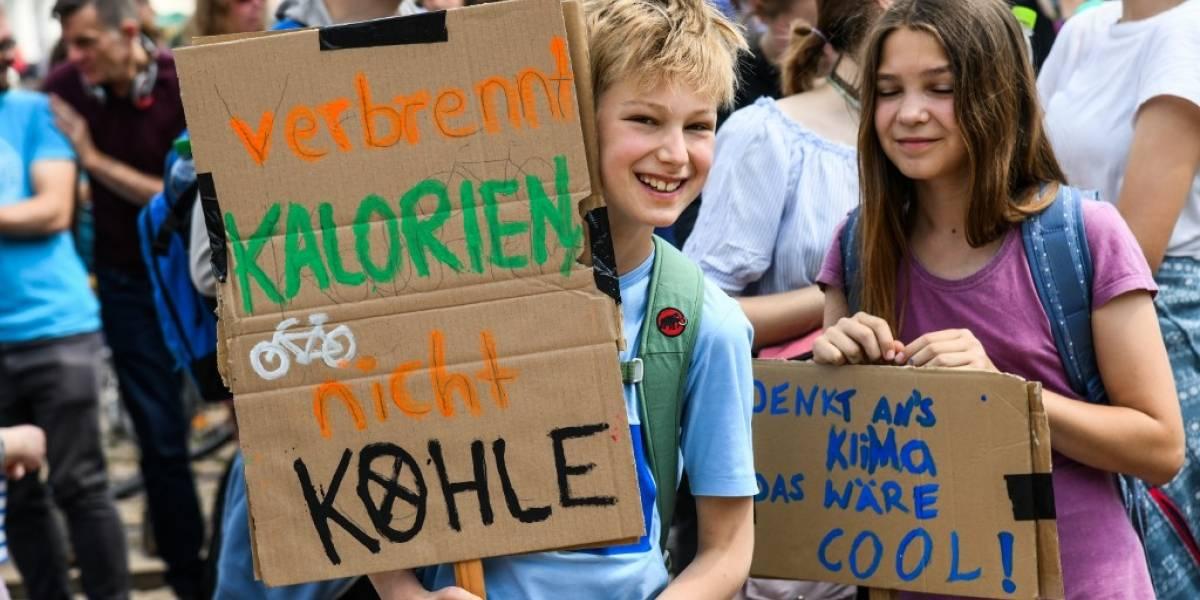 Miles de jóvenes marchan en Alemania contra el cambio climático