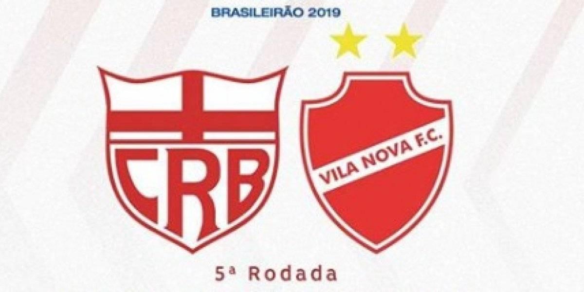 Série B 2019: como assistir ao vivo online ao jogo CRB x Vila Nova