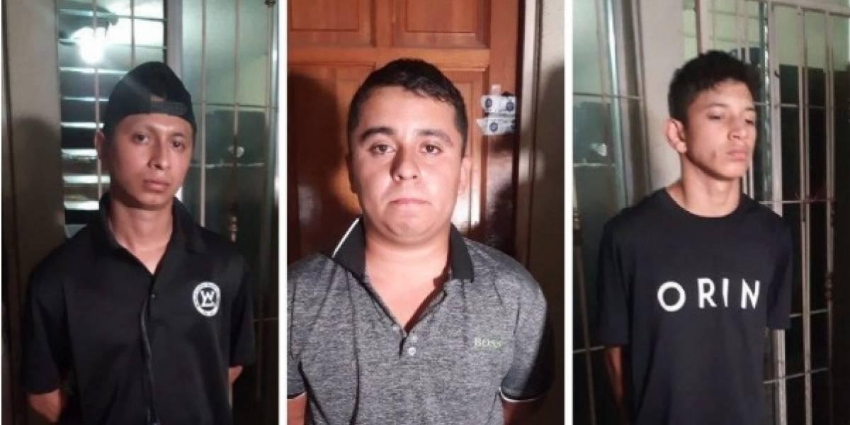 Detienen a tres sicarios de la Mara Salvatrucha que pretendían atacar sede policial