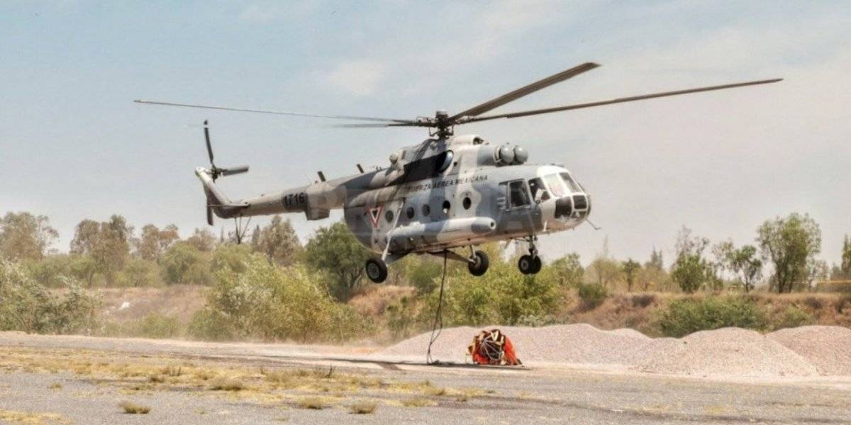 En México hallan cinco cuerpos en helicóptero militar accidentado