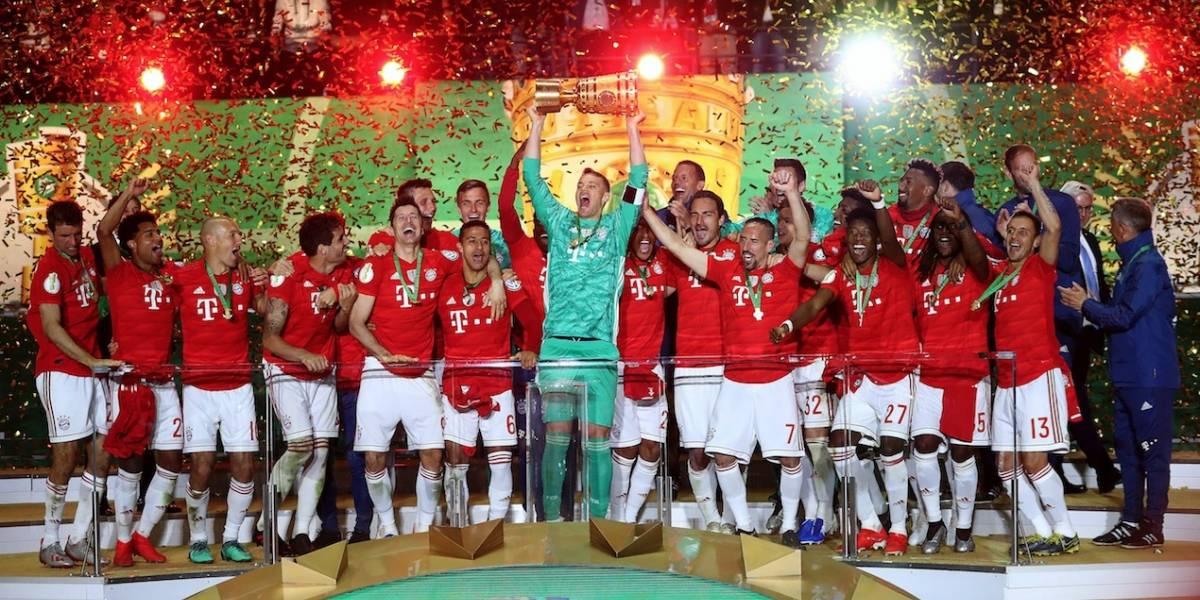 Bayern Munich conquistó la Copa de Alemania y aseguró otro doblete germano