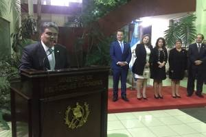 Nelson Olivero, embajador de Guatemala en México, es juramentado.