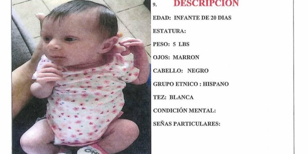 Entregan bebé de 20 días de nacida reportada como desaparecida con su madre