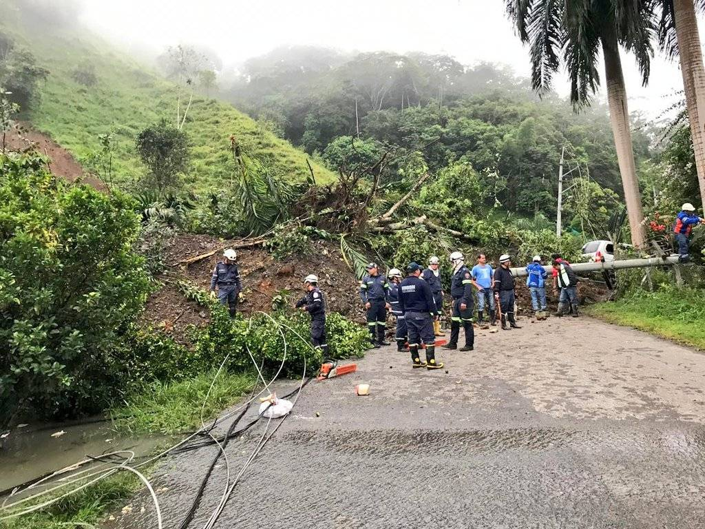 trágico derrumbe en La Palma (Cundinamarca) FOTOS: GOBERNACIÓN DE CUNDINAMARCA