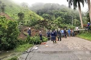 trágico derrumbe en La Palma (Cundinamarca)