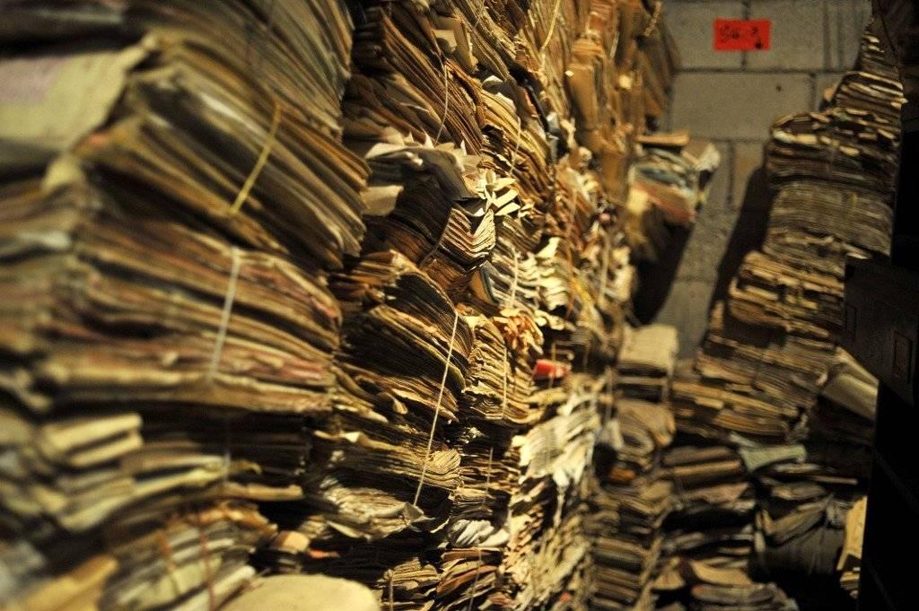 De esta forma fue encontrado el Archivo Histórico de la Policía Nacional. Foto: AFP