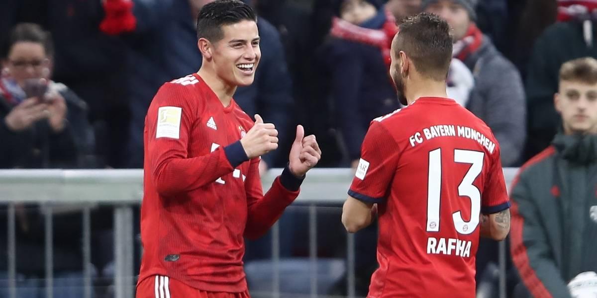El mejor gol de Colombia en la liga alemana: James Rodríguez con Bayern Múnich ante Bayer Leverkusen