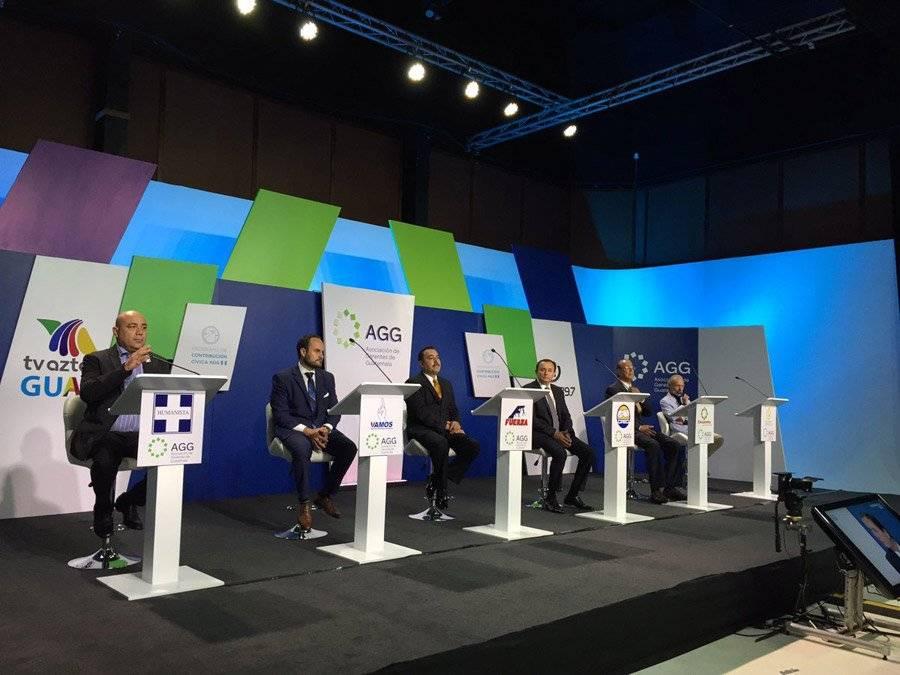 Participantes en el debate de candidatos a alcalde