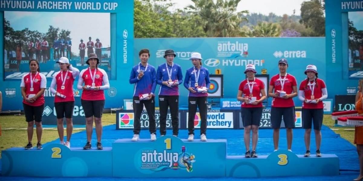 Mexicanas ganan plata en Copa del Mundo de tiro con arco