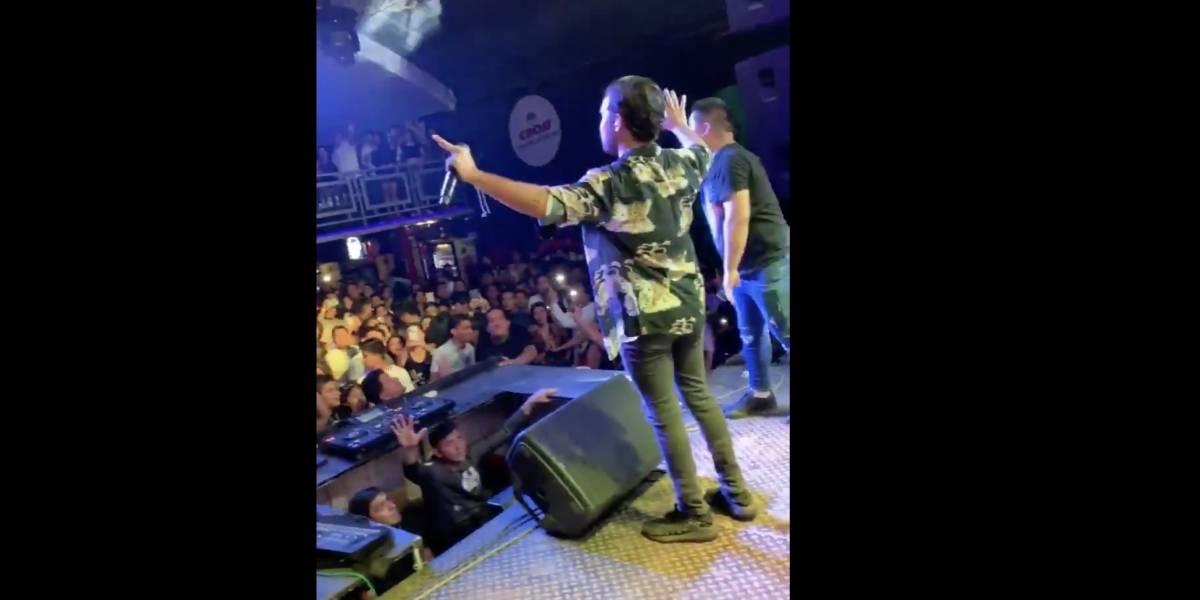 VIDEO. ¡En pleno concierto! Cantante graba el momento del terremoto en Perú