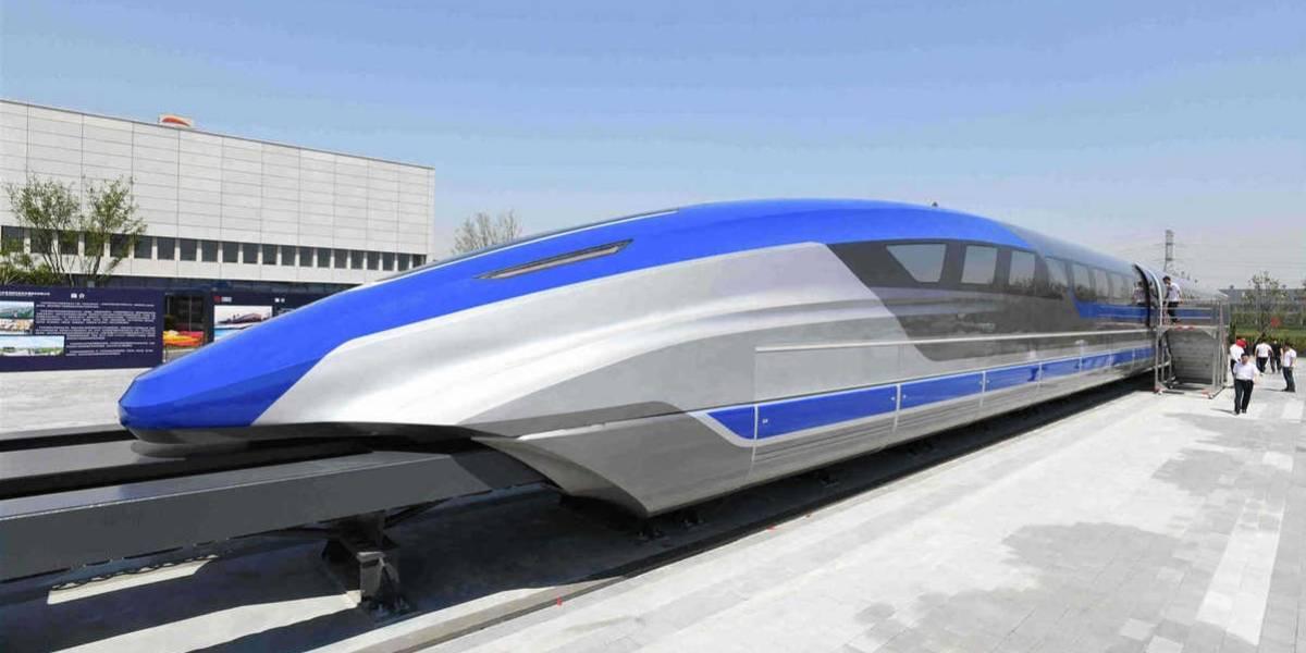 China revela su primer prototipo de tren bala que podrá alcanzar velocidades de 600 Km/h