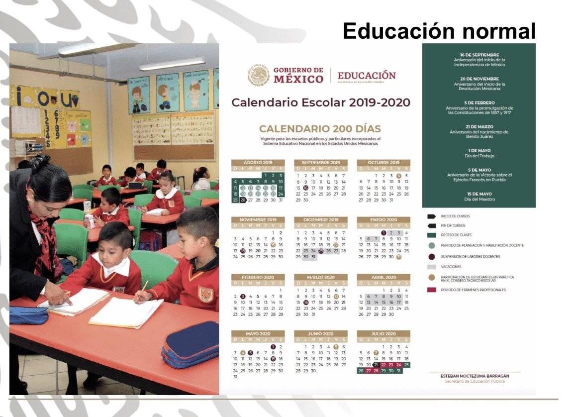 Calendario escolar 2019-2020, Ciclo escolar
