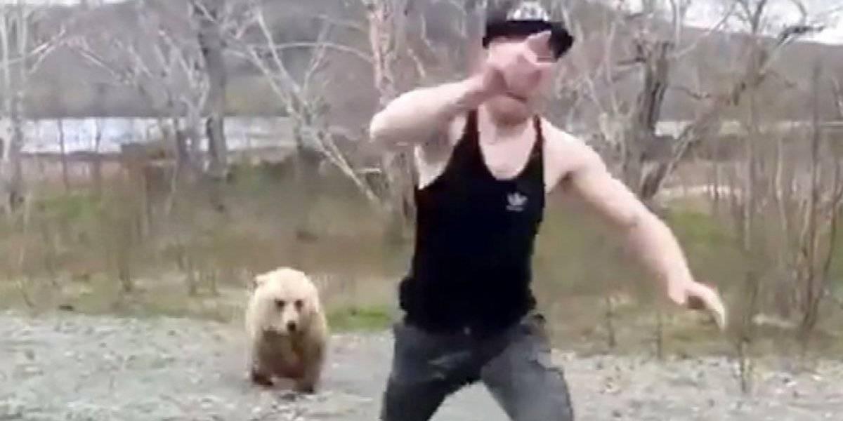 Turista se enfrenta a la muerte luego de bajarse de su auto para acariciar un oso