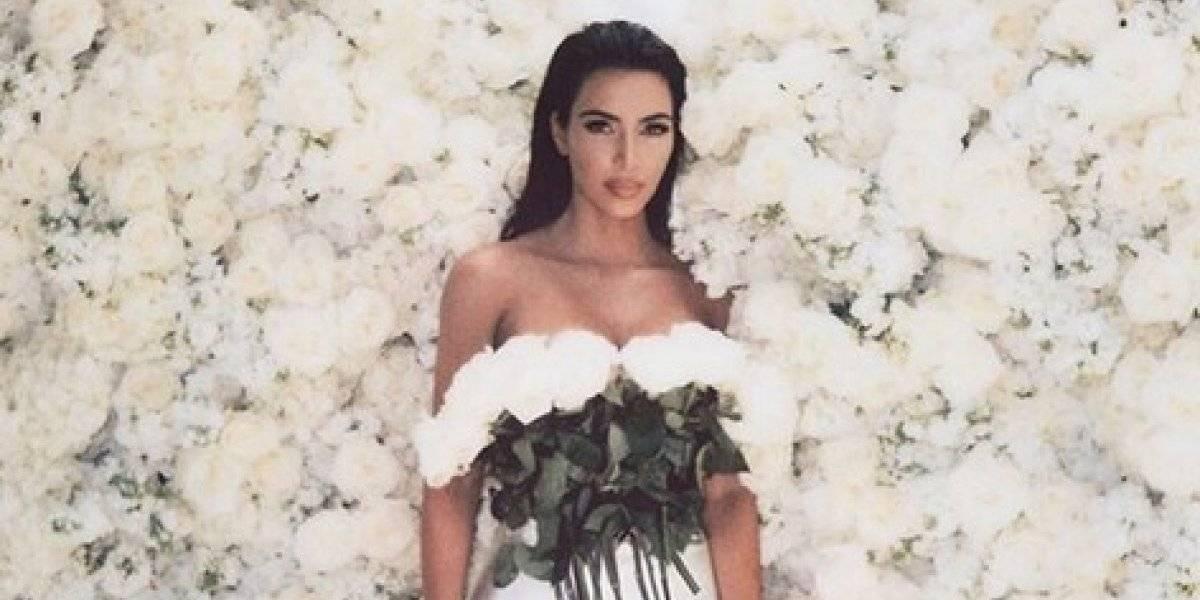Kim Kardashian comparte fotos inéditas para recordar su boda