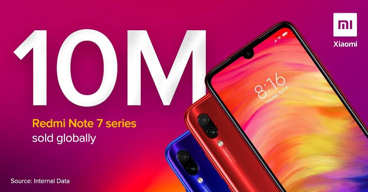 Xiaomi Redmi Note 7 ha vendido más de 10 millones de unidades en todo el mundo